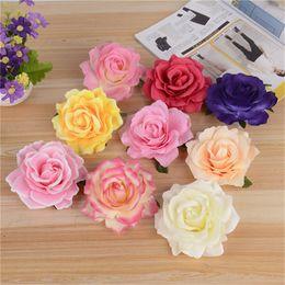 Wholesale Silk Rose Flower Diy - 2017 DIY rose flower creative decoration flowers hairpin silk artificial flower brooch jewelry accessories