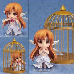 Wholesale Nendoroid Sword Art Online - Japanese Anime Figures Cute Nendoroid Sword Art Online Birdcage Asuna Dolls Model Adult Toy 10CM