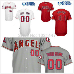 Wholesale Anaheim Angels Jersey Xxl - Free shipping Custom Los Angeles Angels of Anaheim Jerseys Personalized Stitched Best Quality Baseball Jerseys For Men Women Kid Toddler
