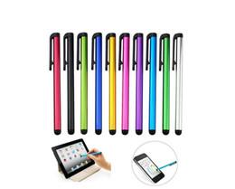 Penne universali per compresse online-Capacitive Stylus Pen Touch Screen Penna ad alta sensibilità per iPhone 7 7s iPad Air 2/1 Mini 2/3 Suit per Universal Smart Phone Tablet Penna per PC