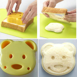 Wholesale Toasted Bread Cartoon - Home DIY Cookie Cutter Plastic Sandwich Toast Bread Mold Maker Cartoon Bear Tool silicone form baking tools for cakes cake decorating tools