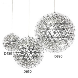 Wholesale Pendant Light Home - Stainless Steel Pendant Lights Lamps 110V 240V LED Firework Light Ball for Restaurant Cafe Bar Dining Living Room home indoor lighting
