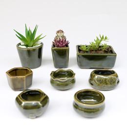 Wholesale Wholesale Mini Pots - 8pc  Set Simple Shape Flower Pot For Succulents Fleshy Plants Flowerpot Ceramic Small Mini Home  Garden  Office Decoration