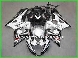 Motos corona gsxr online-El último kit de carenado de motocicleta para SUZUKI GSXR 1000 05 06 GSX-R GSXR 1000 K5 2005 2006 Extra Corona blanco negro