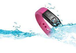 Wholesale Vibrating Bluetooth - I5 Bluetooth Bracelet healthy Smartwatch wristhand watch smart watch Clock Vibrating Pedometer Mileage Sleep mode Calorie newest 1pcs