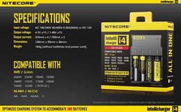 2019 hoverboard ladegeräte Nitecore I4 I2 Digicharger LED-Anzeige Batterieladegerät Universal NiteCore Ladegerät Ladekabel Kleinpaket frei DHL