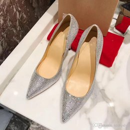 Wholesale Famous Points - 2017 Luxury High Top Christian Red Bottom Heels for Women,Famous Brand Studded Spikes Flats Leather Flat Party Dress Heels