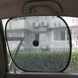 Wholesale Automobile Sun Visors - Wholesale- 2pcs Black Side Car Sun Shade Rear Window Sunshade Cover Mesh Visor Shield Screen high quality automobiles accessories 2017
