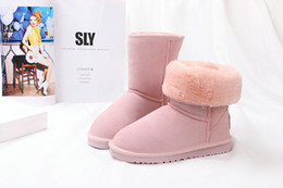 Wholesale Womens Sexy Warm Winter Boots - Brand New Short boot 6 Colors Winter Snow Boots sexy christmas gift womens Short snow boots Pink Winter warm Boots cotton padded shoes