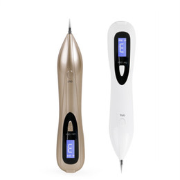 Wholesale Mole Tattoo - NEW LCD Skin Care Point Pen Mole Removal Dark Spot Remover Pen Skin Wart Tag Tattoo Removal Tool Laser Plasma Pen Beauty Care