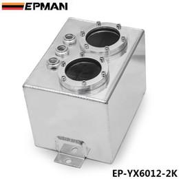 Wholesale Surge Tanks - EPMAN High Q External 044 Dual Fuel Pump Anodized Billet Aluminum Fuel Surge Tank W O Fuel Pump EP-YX6012-2K