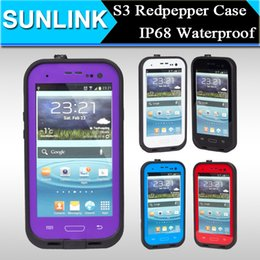 Wholesale S3 Case Waterproof Shockproof - Redpepper Waterproof Case for Samsung Galaxy S3 I9300 Hard PC Phone Shell Swimming Diving Snowproof shockproof Cover with Retail Package