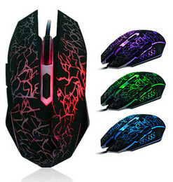 Wholesale Wired Usb Mouse - One mouse shows all colors 4000 DPI 6D buttons led back light mouse wired gaming mouse USB wired game mice for laptops desktop