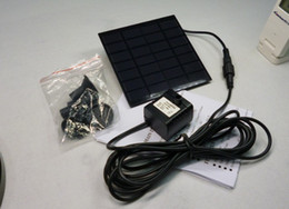 Wholesale Solar Water Fountain Pumps - 2016 High Quality Solar Panel Power Submersible Fountain Pond Pool Water Cycle Pump Outdoor Garden Brushless