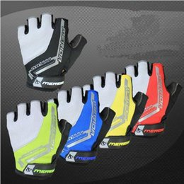 Wholesale Merida Gloves - Wholesale-Cycling Bike Bicycle MERIDA Ultra-breathable Shockproof Half Finger Glove M L XL Black