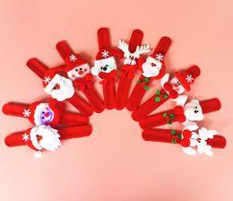 Wholesale Bracelets Santa Claus - Xmas Santa Claus Light Bracelets Christmas Slap & Snap Bracelet Lighted Kids Adults Christmas Party Gift 10 different styles