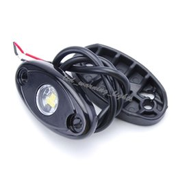 Wholesale Led Strip Lights For Motorcycles - free shipping 4pcs 9W led rock light waterproof offroad atmosphere lamp for wrangler SUV ATV motorcycle trucks signal car decorative light