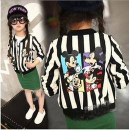 Wholesale Top Korean Jacket Brands - MOQ=10PCS autumn new Korean girls Long Sleeve Stripe cartoons boy open type kid clothing children's Jacket top Children's Outwear FREE ship