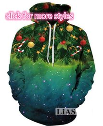 Wholesale Christmas Pullover Sweaters - New Fashion Couples Men Women Unisex Merry Christmas 3D Print Hoodies Sweater Sweatshirt Jackets Pullover Top S-5XL TT62