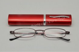 Wholesale Reading Glasses Metal Tube - Hot Sale 2017 Eye Protection Computer goggles optical frames Reading glasses Mini Tube glasses Anti-fatigue eyeglasses Metal Frame with