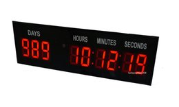 Wholesale Digital Day Clock - Red 1.8'' Character High 9-Digits Indoor LED Countdown Clock Count Down Count Up Big Special Event Day For World Cup Olympic Horse Racing