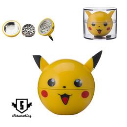 Molinillo lindo online-Amoladora de 3 piezas con material de aleación de zinc El pikachu lindo forma la mejor calidad y precio estable DHL al por mayor