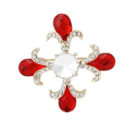 Wholesale Square Brooch - Square exquisite brooch crystal brooches KROEA fashion classic personality multicolor YL-81350