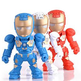 Wholesale Transformer Robots - C-89 Model Transformers Robot Mini Bluetooth Speaker Iron Man Cartoon Speaker Support U Disk Good For Gift