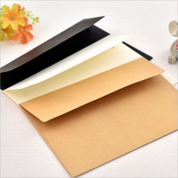 Wholesale Cheap Wholesale School Supplies - Wholesale- 10pcs lot simple series blank pattern 3 color cheap paper envelope for Invitations or students gift office school supplies
