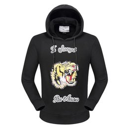 Wholesale Luxury Shark - New Arrival top famous luxury brand tiger Design 3D Crown designer shark hoodies and sweatshirt tracksuits for men slim fit for man