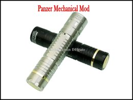 Wholesale Top Mechanical Electronic Cigarette - Stainless Steel Panzer Mechanical MOD Black Mech Mod Electronic Cigarette Top Mech Mechanical Panzer MOD Replace as Stingray Mod Nemesis