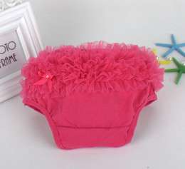 Wholesale Knitted Panties - 45pcs Baby Ruffled Knit Bloomers Ruffles Pettiskirt Panties Girls RUFFLED Bloomer Girl PP Wave Dress PP001
