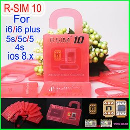 Wholesale Support Iphone 4s - Newest Official Original R-SIM 10 rsim 10 R SIM 10 Unlock Card for iphone 6 6plus 4S 5 5C 5S iOS7. X-8.X Support Sprint ATT T-mobile Cricke