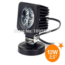 Wholesale Truck Lights For Sale - Hot sale 2pcs lot 2.5 inch 12w 4x4 4wd led work light for boat mini truck motorcycle