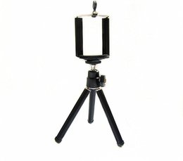 Wholesale S4 Mini 4g - Mini Tripod Stand Holder for Mobile Cell Phone with the clip,for iPhone 4 4g 5 5G Samsung galaxy S2 S4 i9200 I9500