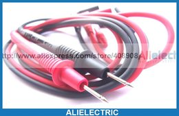 Wholesale Extensions Pen - Multimeter Pen Soft Silicone Cable for PCB SMT SMD IC Banana Plug Test Probes