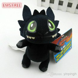 "Wholesale Dragon Toothless Plush - EMS FREE How to Train Your Dragon Toothless 18cm 7"" Night Fury Plush Doll Soft Stuffed Toy 18cm=7"" Christmas Gifts EMS free shipping"