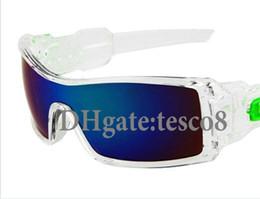 Wholesale Sun Wind Glasses - Excellent quality Men Fashion Sunglasses Transparent frame Siamese Resin lenses 8 colors Wind Goggle Eyewear Designers Sun Glasses