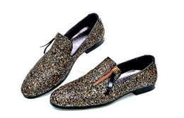 Wholesale Vintage Mens Dress Shoes - .Wholesale New Men Loafers Dress Shoes Mens Sequined shoes Vintage Men's Flats Brand Mens Driving Slippers Black Casual Shoes 132