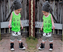 Wholesale Boys Shorts Harems - 5pcs INS Boys harem pants KIKIKIDS 2016 summer style Cactus Stripe Cross print girls shorts pants brand kids baby clothing 201510HX