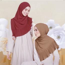Wholesale Headscarf Styles - 20 colors New style high quality chiffon crushed Muslim headscarf Muslim long scarf hijabs