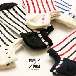 Wholesale Animal Print Essentials - Wholesale-2015 Socks Women Calcetines Pantufas Four Essential Cotton Socks And Neutral Trendsetter Striped 6 Pairs Of For A Couple Of Low