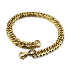 Wholesale Chunky Jewellery - Vintage filled gold chain bracelets chunky stainless steel men's jewelry afrcian jewellery