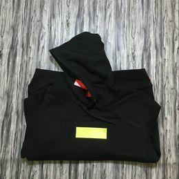 hoodie do estilo do assassino dos homens Desconto Logotipo da caixa de marca de lã preto com capuz moda bordado carta pullover camisolas venda quente