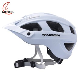 Wholesale Moon Helmets - Wholesale-MOON Cycling Helmet Mountain and Road Bicycle Helmet or Integrally-molded Bike Helmet 55-61 CM 17 Air Vents [CH10]
