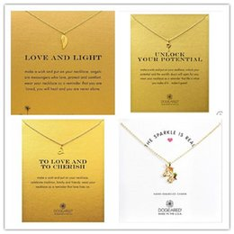 Wholesale Womens Gold 14k Necklace - Dogeared Newest Designs Colorful Unicorn Polaris Choker Necklace Colar Kolye Necklaces & Pendants Chocker Collares Womens Jewelry