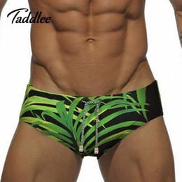 Wholesale Enhancing Pouch Mens Briefs - Europe Big Size Men Swimwear Sexy Mens Swim Briefs Brand Swimming Bikini Penis Pouch WJ Enhance Front Pocket Inside Swimsuits