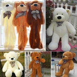 Wholesale Kids Giant Teddy Bears Toys - 5 Color 60cm-200cm size Giant shell giant teddy bear toys 2016 new Valentine's Day holiday gift Teddy bear Plush Toys B001