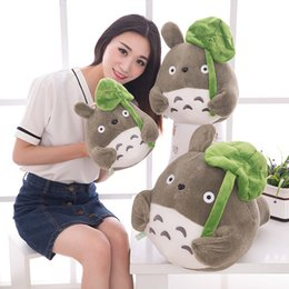 Wholesale Lotus Doll - Tv Movie Character 20cm Lovely Plush Toy My Neighbor Totoro Plush Toy Cute Soft Doll Totoro With Lotus Leaf Kids Toys Cat Gift
