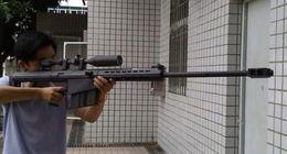 Wholesale Model Paper Toy - Paper model1:1 Scale Matt Barrett M82A1 Sniper Rifle 3D Cosplay Kits paper Gun Weapons Paper Models Gun Toys